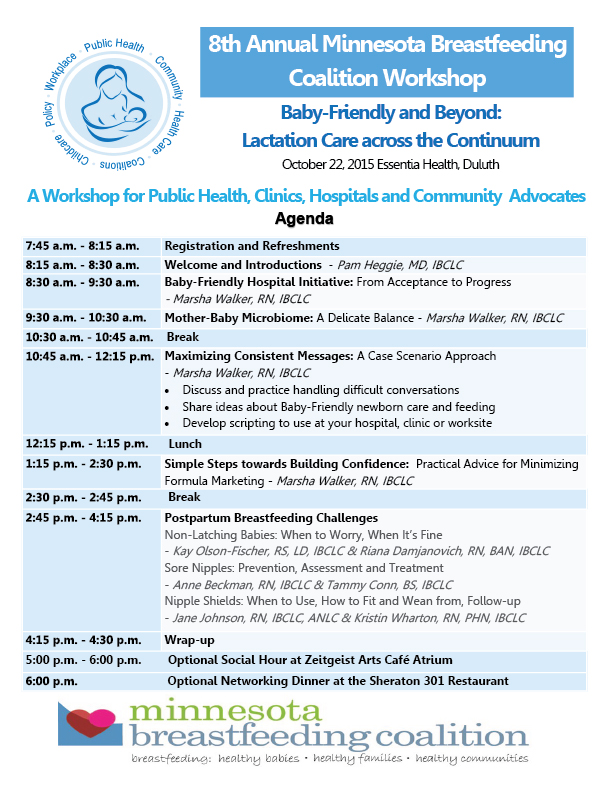 Annual Meetings And Workshops  Mn Breastfeeding Coalition