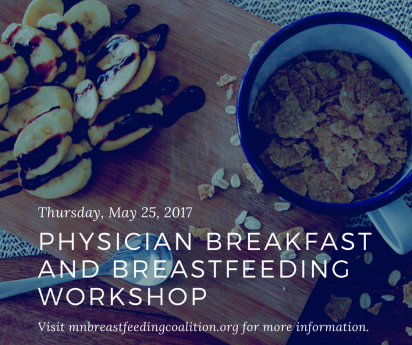 Physician breakfast and breastfeeding workshop